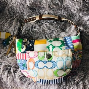 COACH MULTICOLOR PATCHWORK HOBO BAG